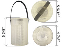 Pentair Plastic Strainer Basket Challenger Pump 355318