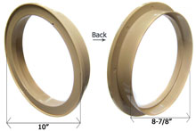 CMP Tan 10 in. Water Leveler Lid Collar 25504-009-020