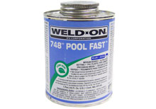 IPS Pool Fast PVC Glue Blue Weld-On 748 1 Quart 13342