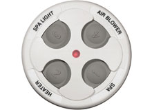 Spa Side Remote Jandy 4 Function 150 ft. White 7443