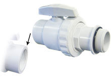 Pooline 1.5 in. Male Thread PVC Valve 11216