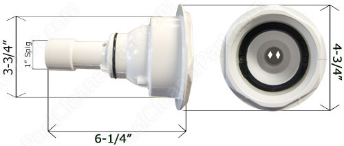 Waterway Wall Fitting Retainer Ring 215-6660